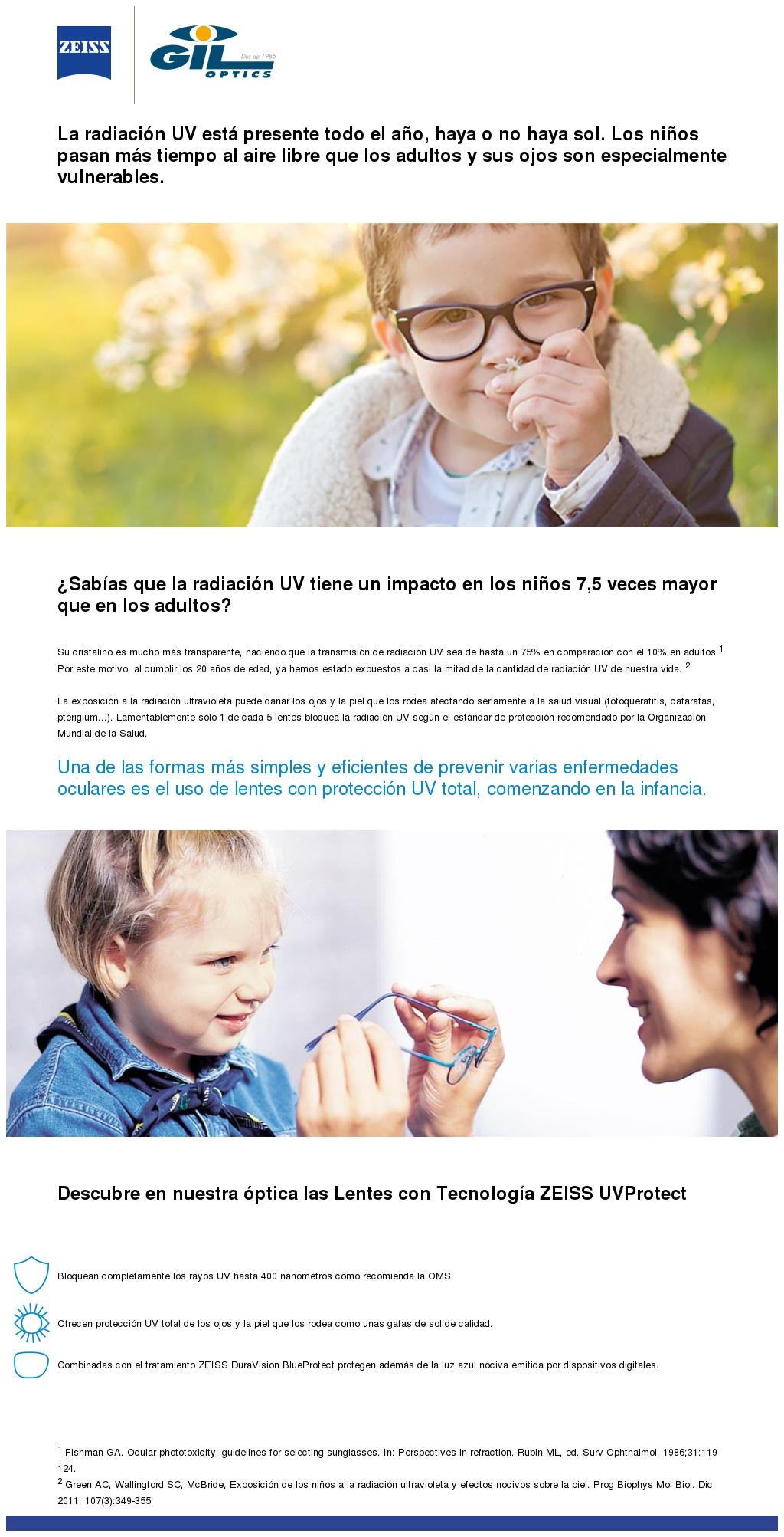 El impacto de los rayos UV en niños