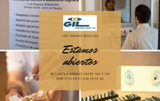 Horario reducido durante el Covid-19 del centre auditiu Gil Castelldefels
