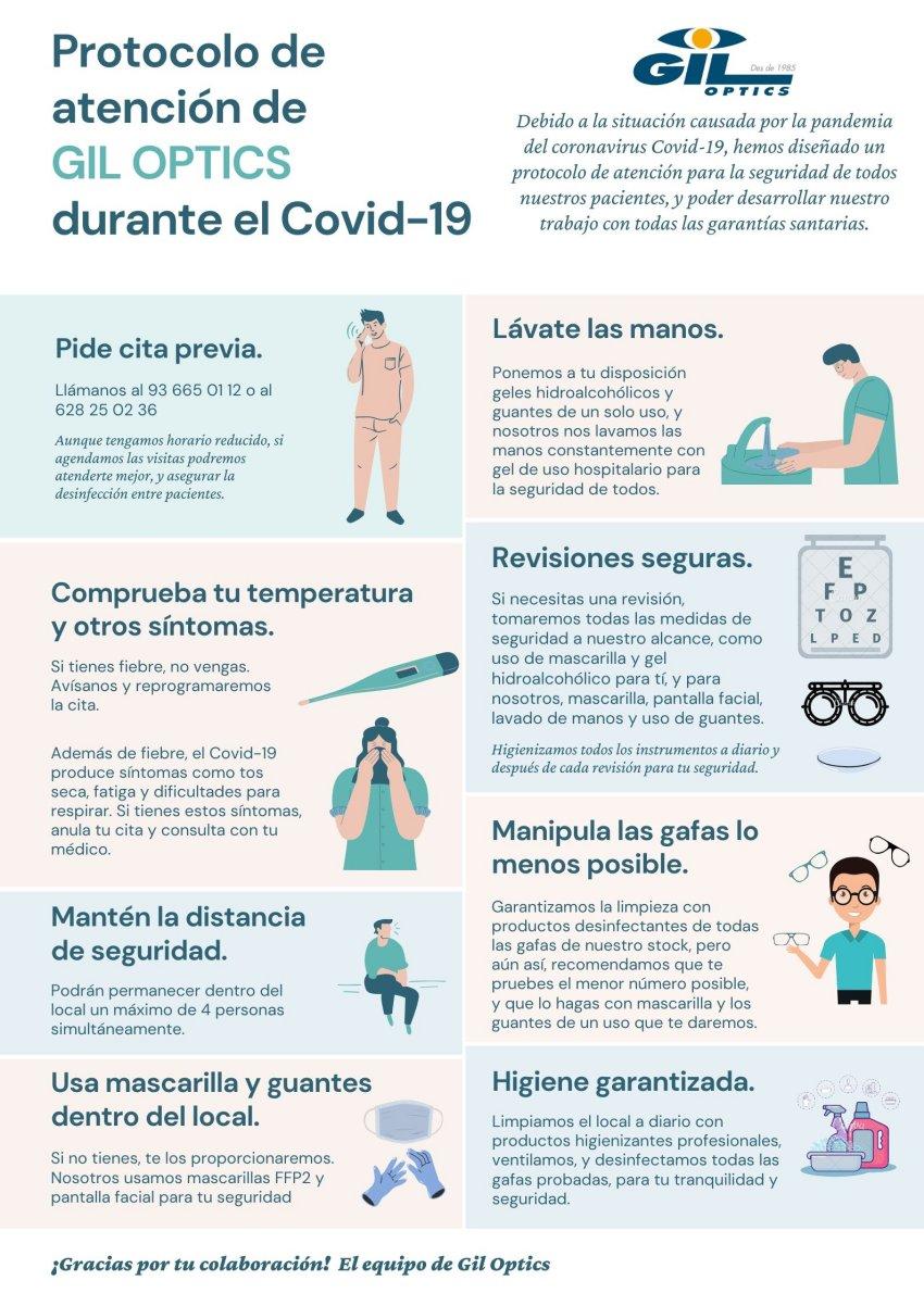 Protocolo de atención de Gil Optics durante Covid-19